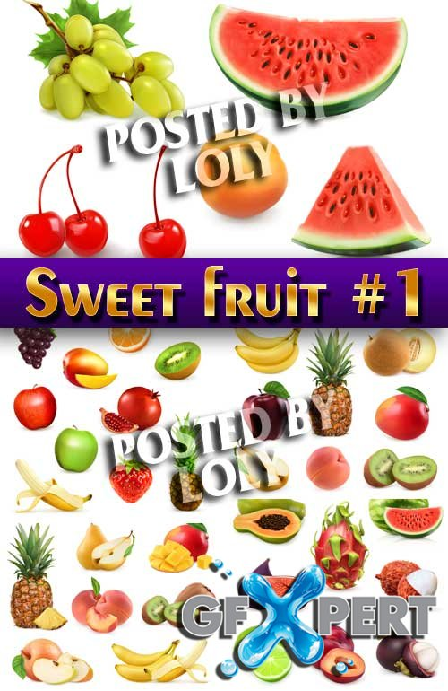 Sweet fruit #1 - Stock Vector