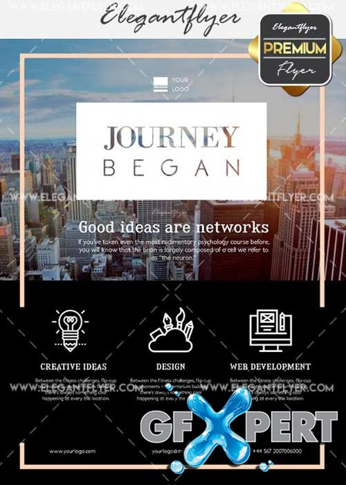 Journey Began V1 Flyer PSD Template + Facebook Cover