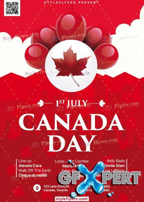 Canada Day V15 PSD Flyer Template