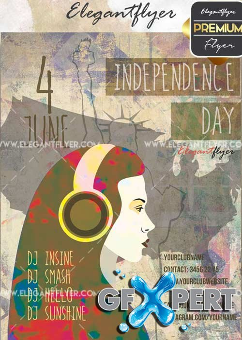 Independece day V22 Flyer PSD Template + Facebook Cover