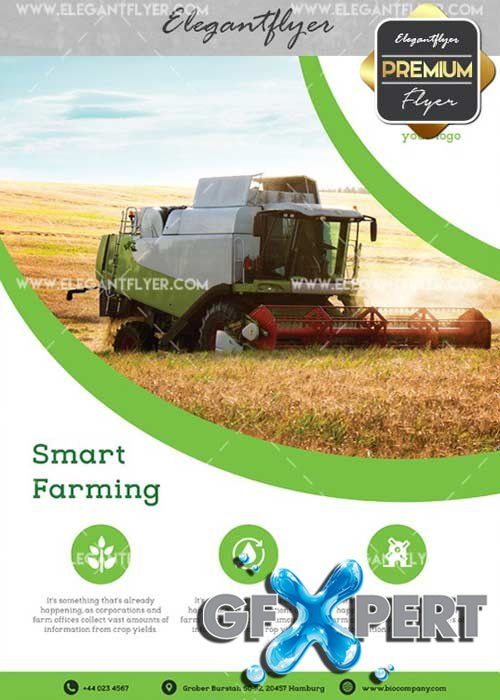 Smart Farming V1 Flyer PSD Template + Facebook Cover
