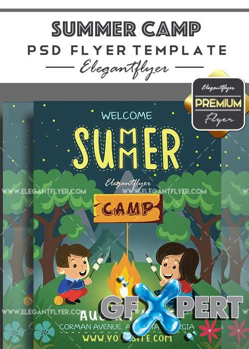 Summer Camp V16 Flyer PSD Template + Facebook Cover