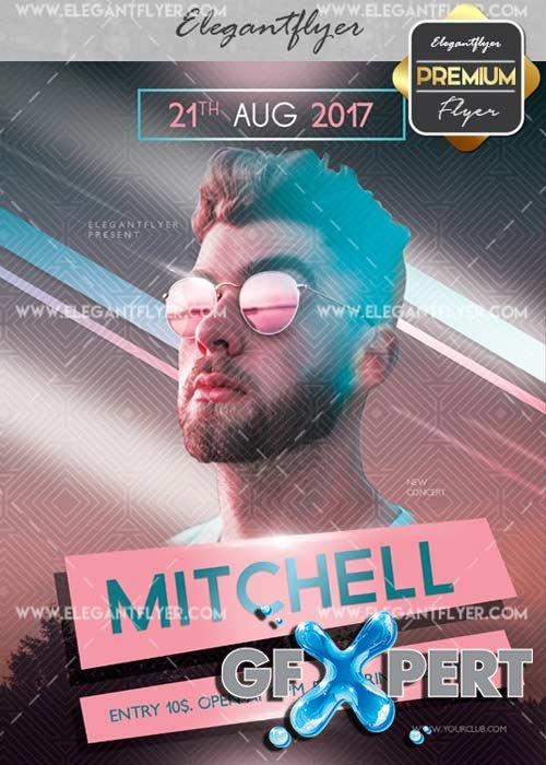 Mithell V26 Flyer PSD Template + Facebook Cover