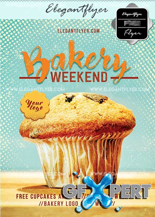 Bakery Weekend V7 Flyer PSD Template + Facebook Cover