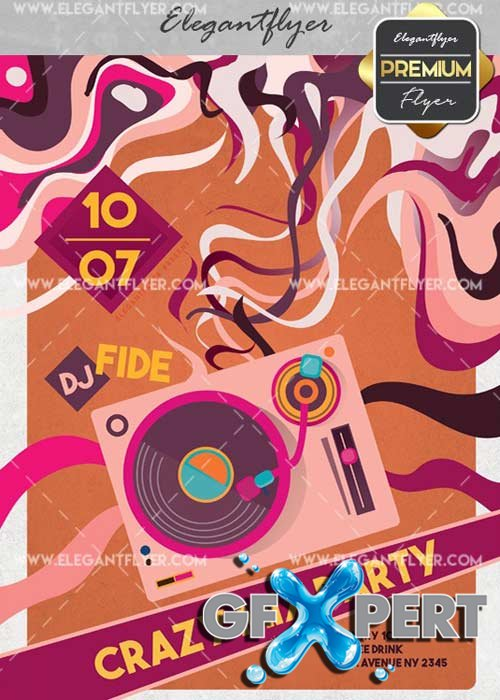 Crazy Mix Party V31 Flyer PSD Template + Facebook Cover