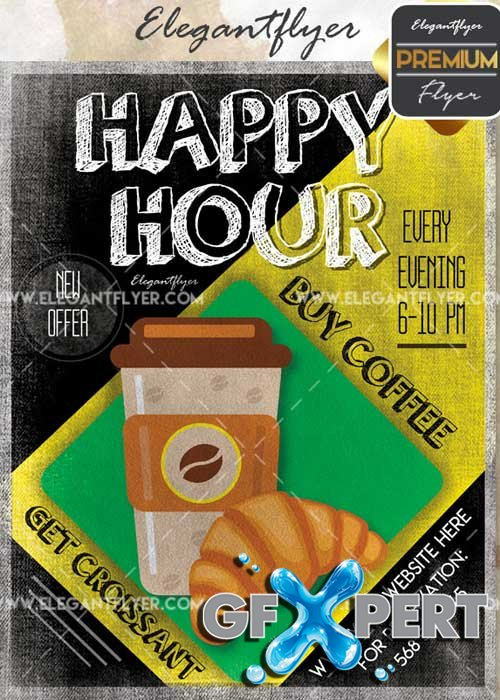 Happy Hour V48 Flyer PSD Template + Facebook Cover