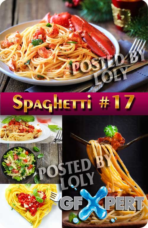 Food. Mega Collection of Spaghetti #17- Stock Photo