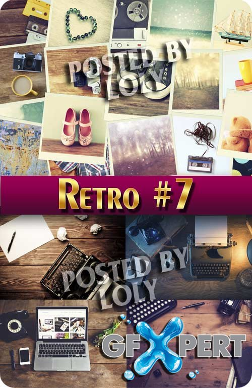 Retro #7- Stock Photo