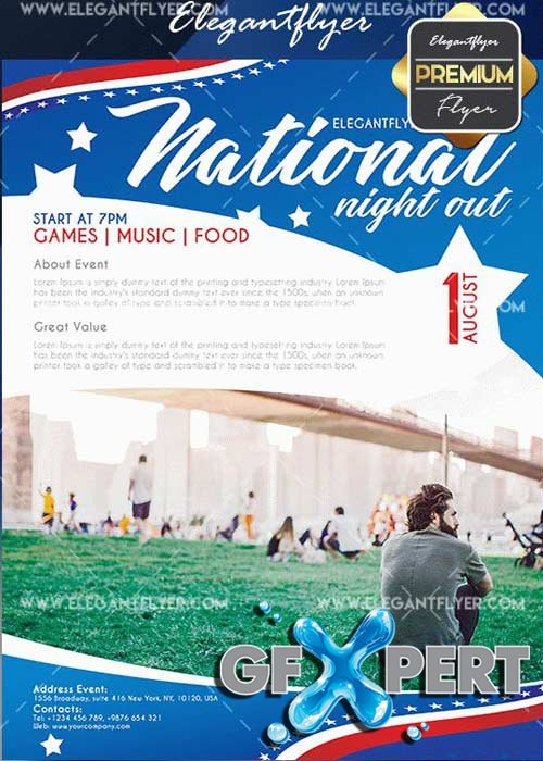 Free National Night Out V6 Flyer Psd Template Facebook Cover Download