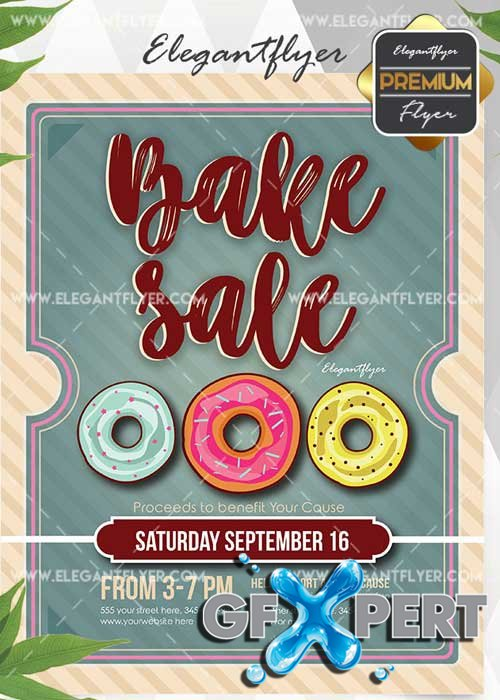 Bake Sale Flyer V16 Invitation Template