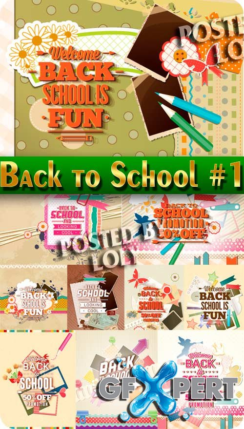 10 eps Back to school #1 - Stock Vector