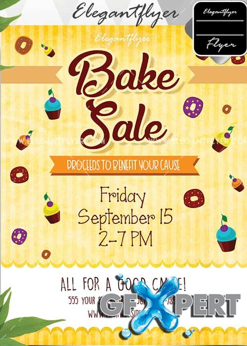 Bake Sale Flyer V2 Invitation Template