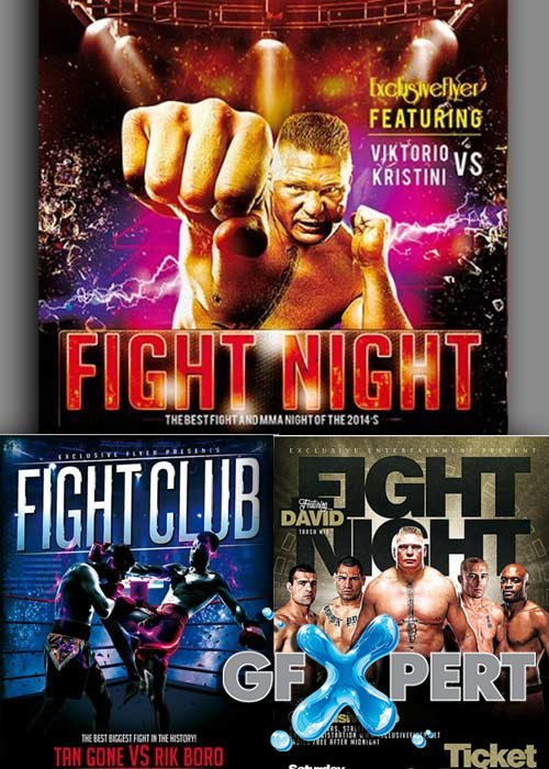 Fight Night 3in1 V1 Flyer Template
