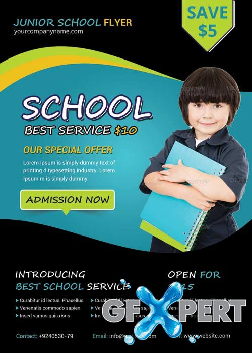 Junior School Flyer V8 Flyer Template