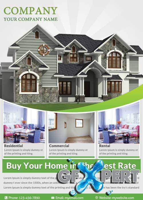 Real Estate flyer V15 Flyer Template