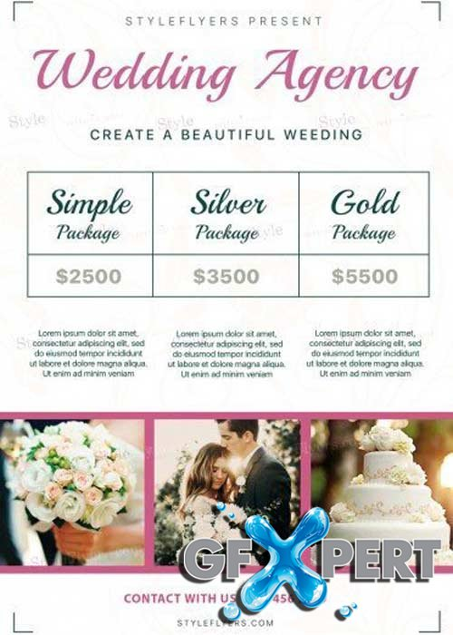 Wedding Agency V10 PSD Flyer Template