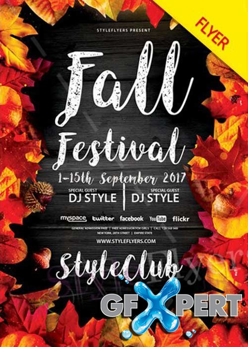 Fall Festival V41 PSD Flyer Template