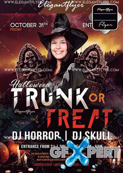 Trunk Or Treat V3 Flyer Template