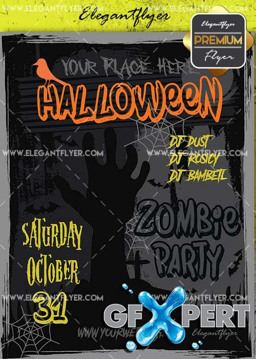 Halloween V41 Flyer PSD Template + Facebook Cover
