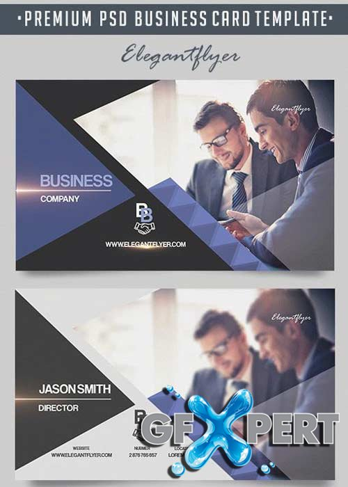 Business Company V18 Premium Business Card Templates PSD