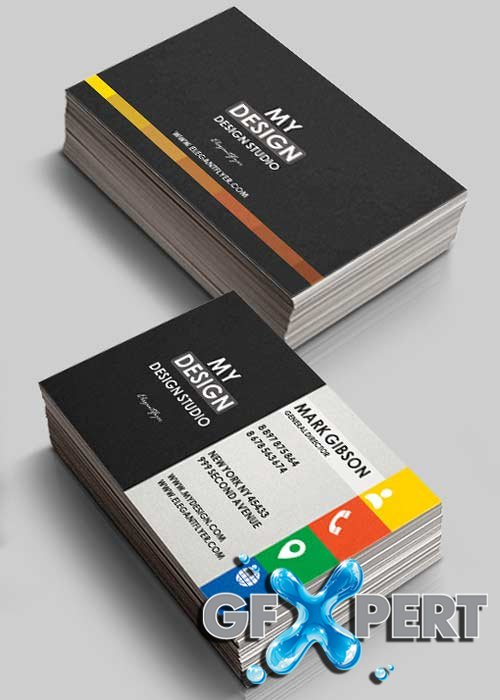 Dasign Studio V2 Premium Business Card Templates PSD