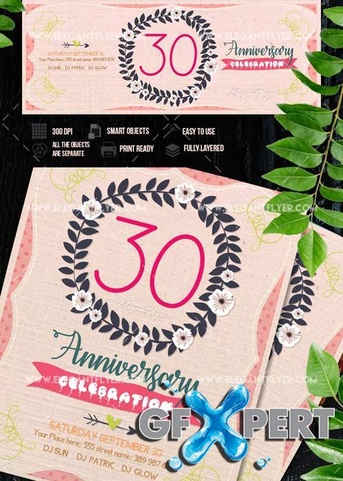 Anniversary V27 Flyer template