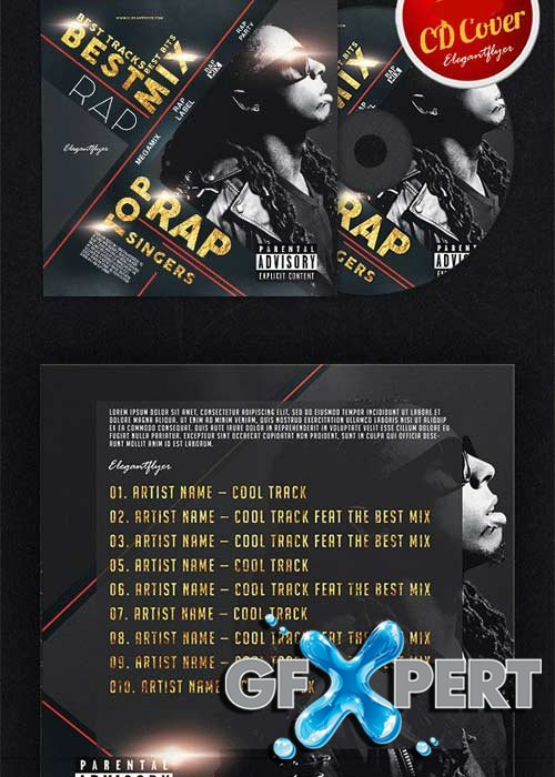 Rap Best Mix V2 CD Cover PSD Template