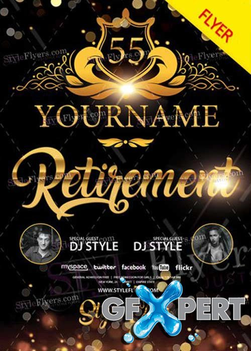 Retirement V27 PSD Flyer Template