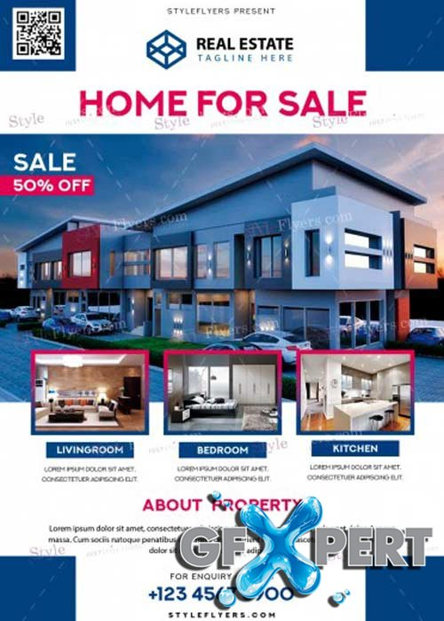 Real Estate V37 PSD Flyer Template