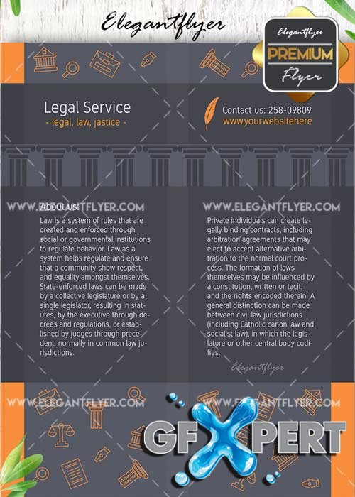 Legal Service V10 Flyer PSD Template + Facebook Cover