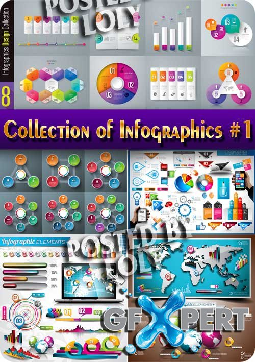 Collection of Infographics #1 - Stock Vector