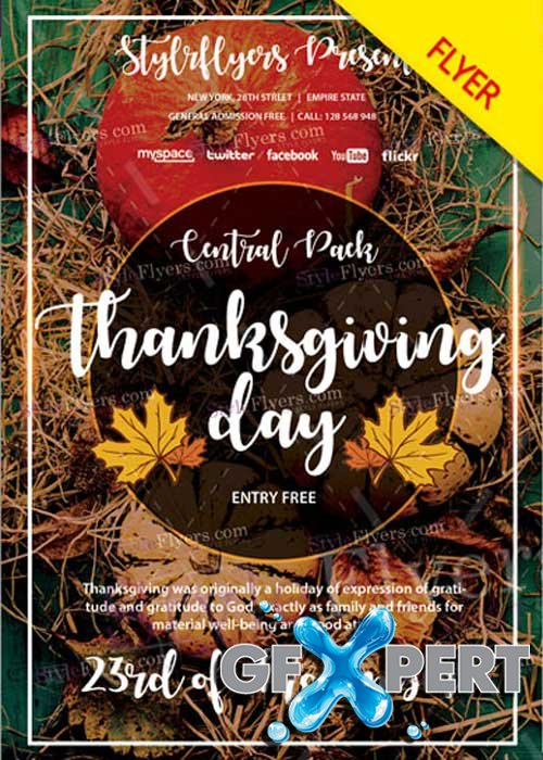 Thanksgiving Day V31 2017 PSD Flyer Template