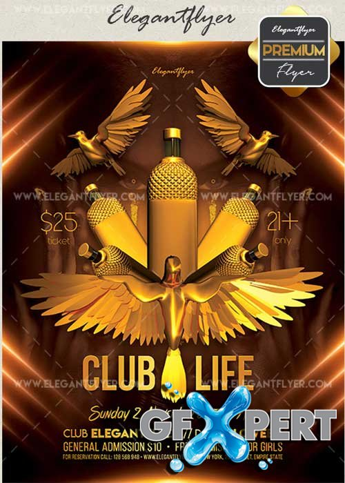 Club Life V31 Flyer PSD Template + Facebook Cover