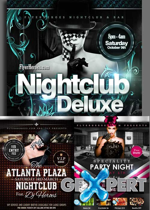 Free Nightclub 3in1 V3 Flyer Templates download