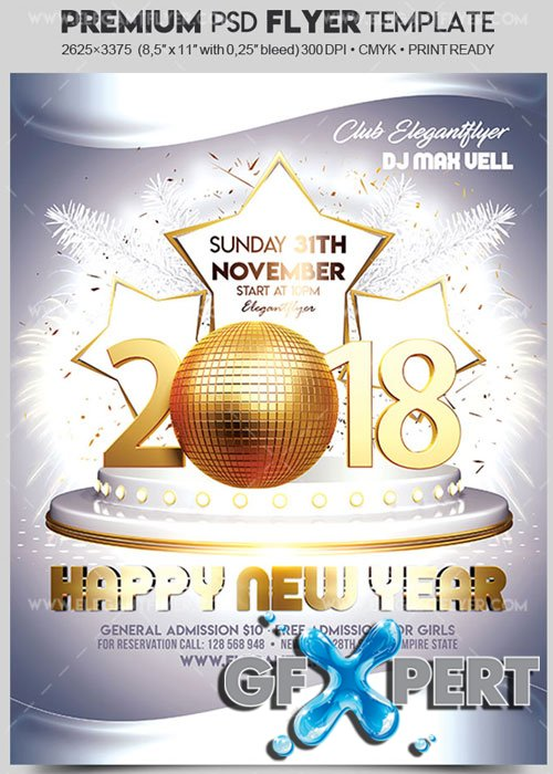 new year flyers template