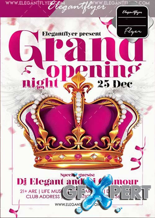 Grand Opening Night V41 2017 Flyer Template