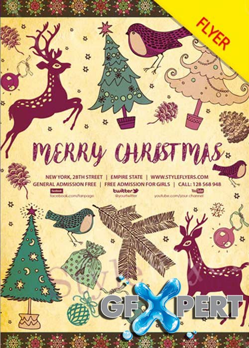 Merry Christmas V45 2017 Flyer PSD Template