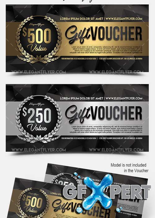 Free Celebratory V1 Premium Gift Certificate Psd Template Download