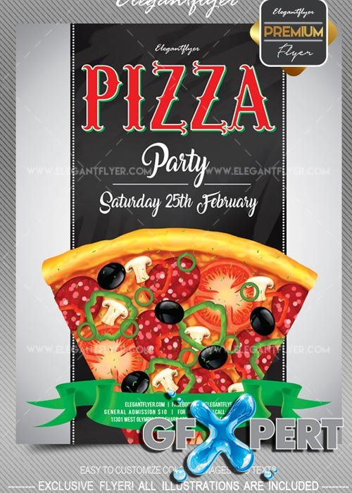 Free Pizza Party V1 2018 Flyer Psd Template Facebook Cover Download