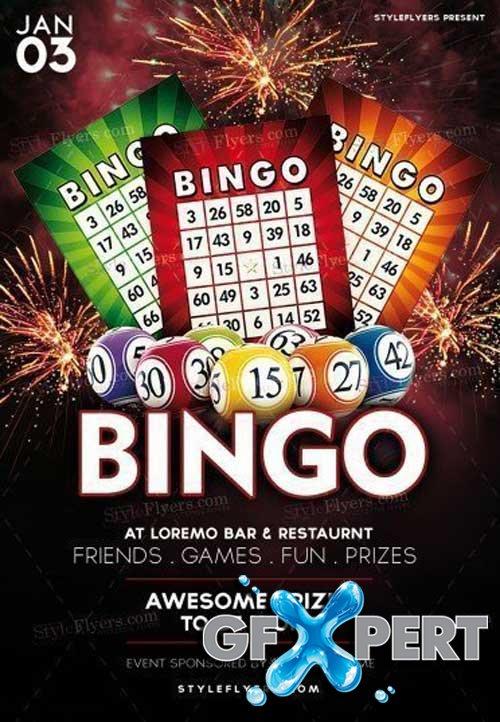 Free Bingo V2 2018 Psd Flyer Template Download