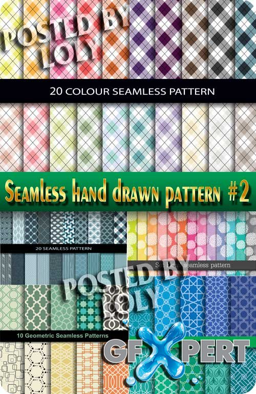 Seamless hand drawn pattern #2 - Stock Vector