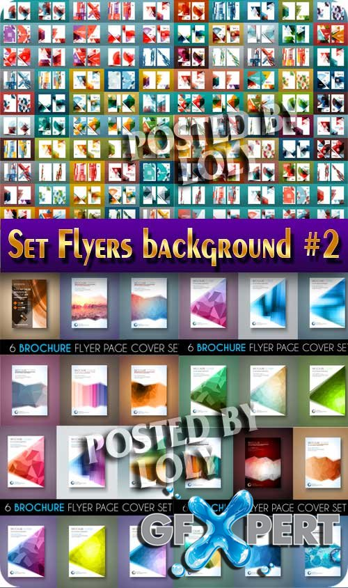Set  Flyers backgroun #2 - Stock Vector