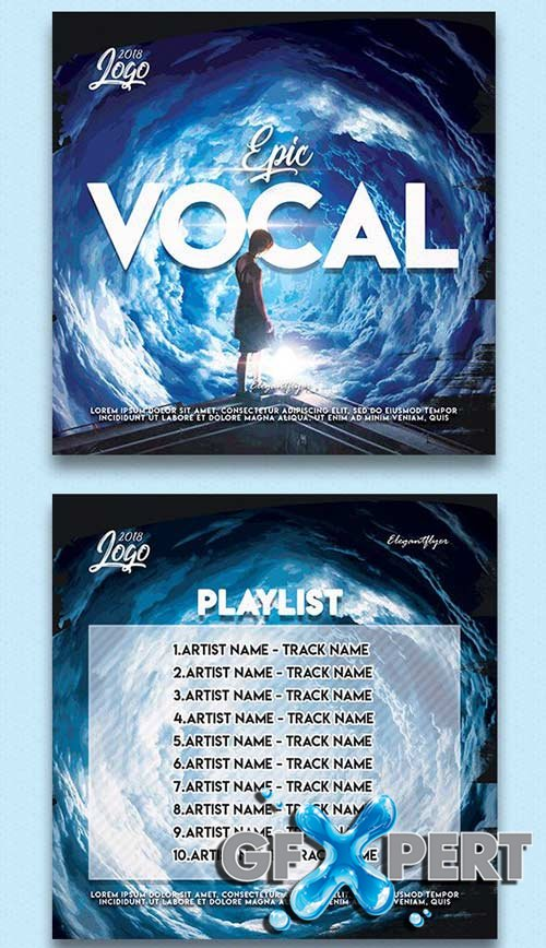 Epic Vocal V1 CD Cover PSD Template