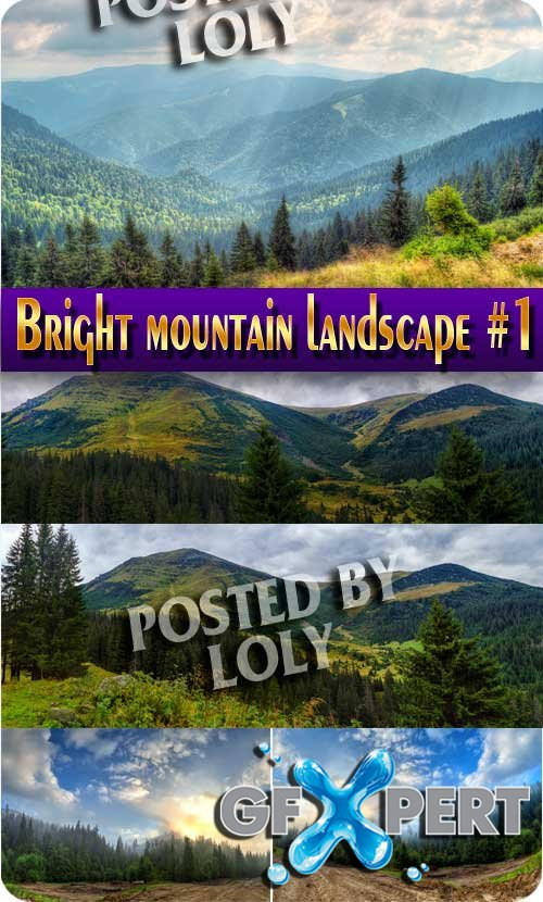 Bright mountain landscape #1 - Stock Photo