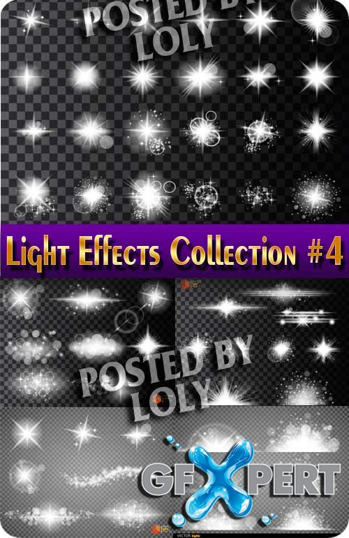 Light Effects Collection #4 - Stock Vector