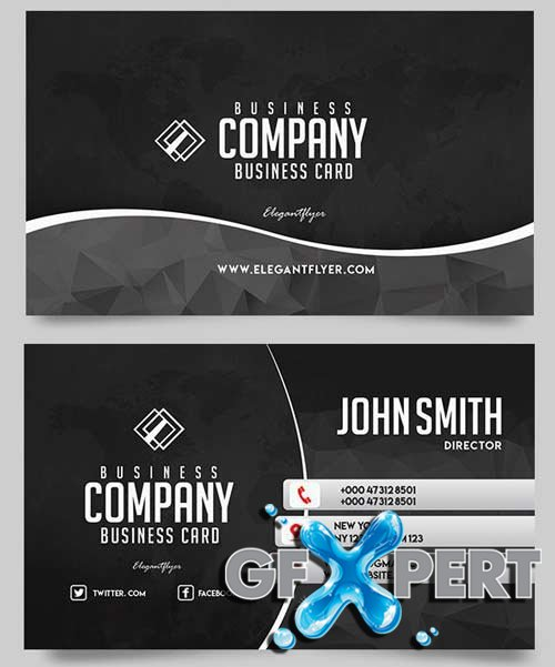 Business Company V8 2018 Business Card Templates PSD