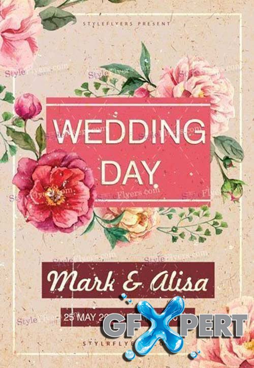 Wedding Day V7 2018 PSD Flyer Template