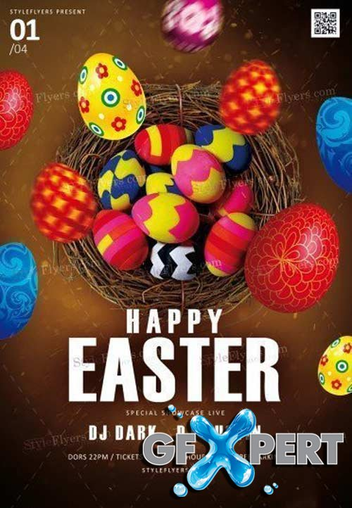 Happy Easter V14 2018 PSD Flyer Template
