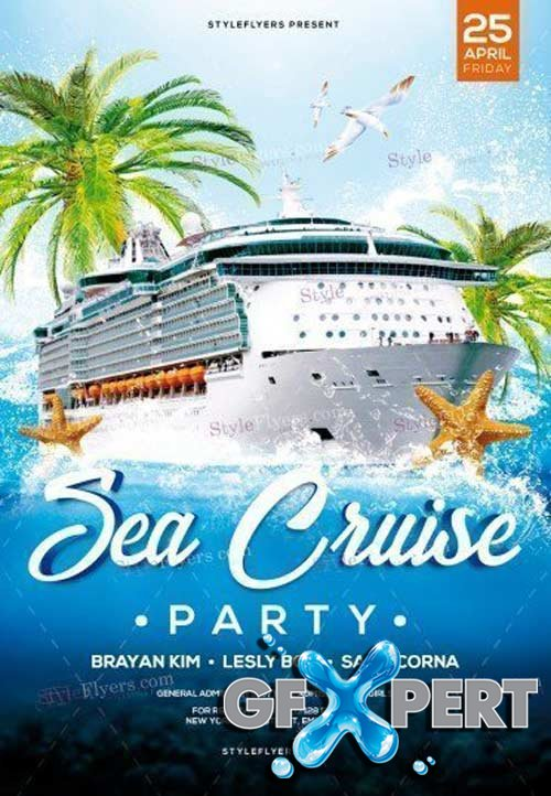 Sea Cruise Party V1 2018 PSD Flyer Template