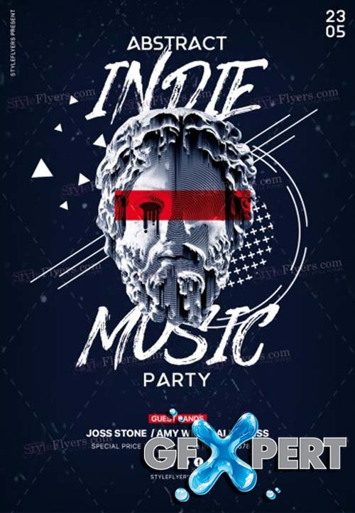 Abstract Indie Music Party V1 PSD Flyer Template